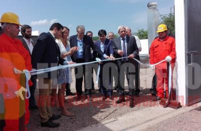 Forres: autoridades inauguraron la Red de desagües cloacales y planta de tratamientos