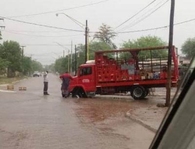 Impactantes imágenes de la lluvia en distintos puntos de la ciudad
