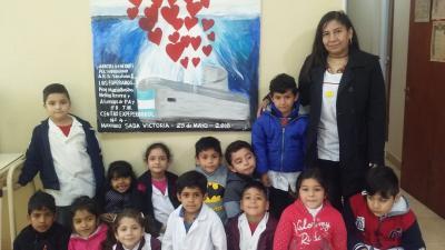 Alumnos de Fernández rindieron homenaje a los tripulantes del Ara San Juan