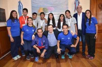 El Gobernador recibió a los deportistas que participaron en los Juegos Evita 2018
