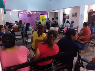 Alumnas del programa para el cuidado adultos mayores realizaron una exposición