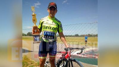 Ciclismo: Exequiel García cierra el año con el primer premio de una competencia en Quimilí