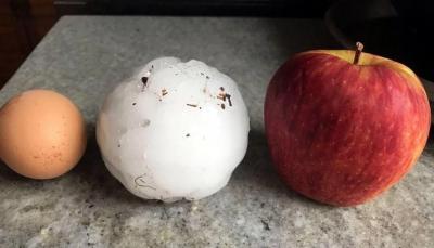 Piedras casi del tamaño de una manzana cayeron en La Pampa