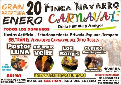Diario El Progreso y Finca Navarro te regalan entradas para la gran apertura de la fiesta del carnaval 2019