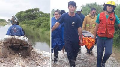 El gobierno utiliza todos los medios para  llevar asistencia a las zonas afectadas por el temporal