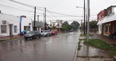 Gran cantidad de lluvia, viento y brusco descenso de la temperatura