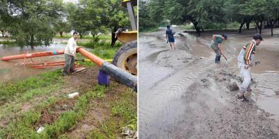 En La Cañada dan batalla al agua con todos los recursos a su alcance