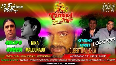 Este domingo 17 gran presentación de Nolberto Al-k-la en Fernández