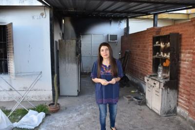 El gobierno envió ayuda para familia que sufrió el incendio de su casa