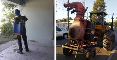Realizan un amplio operativo de fumigación en las escuelas de Fernández