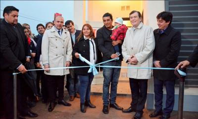 El gobernador inauguró obrasen San Pedro de Guasayán