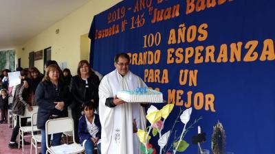 Con una misa iniciaron las actividades por el centenario de la escuela Nº 145 de Pozo Suni