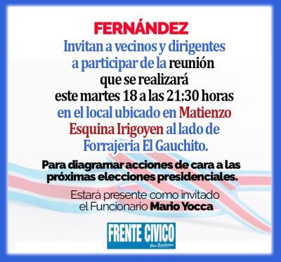 Fernández: Comienzan las actividades políticas de cara a las presidenciales