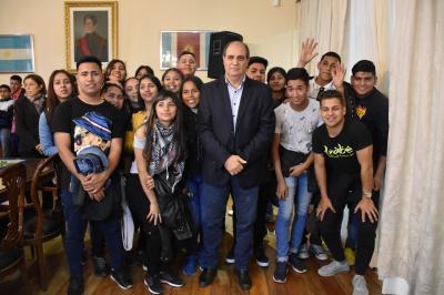 Alumnos de Taboada visitaron Casa de Gobierno
